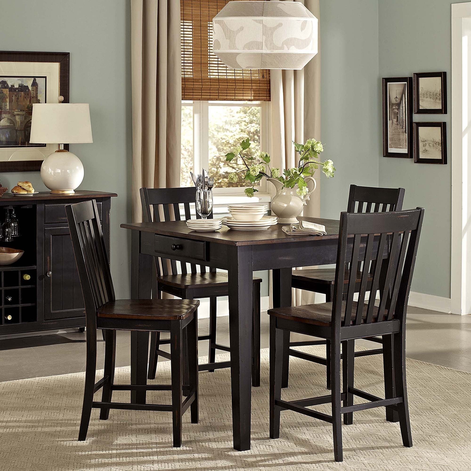 Tribecca Home Zachary 5 Piece Counter Height Dining Set Overstock 8929895