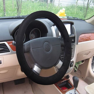 Universal Fit Black Mesh Fabric Steering Wheel Cover