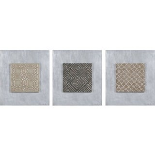 Ren Wil Liza Stones 'Antique Andhra II' 3-piece Wall Art