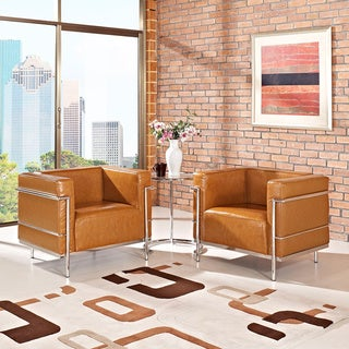 Charles Grande Leather Arm Chairs (Set of 2)