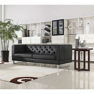 DG Casa Allegro Black Button-tufted Sofa