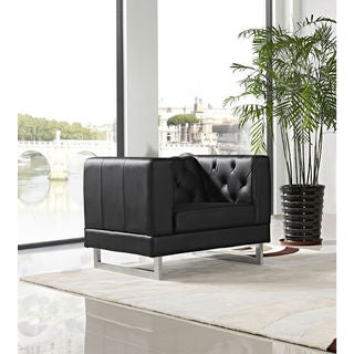 DG Casa Allegro Black Button-Tufted Chair