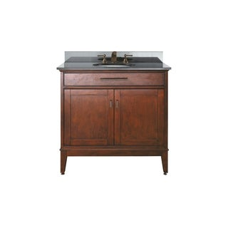 Avanity Madison 36-inch Single Vanity in Tobacco Finish with Sink and Top