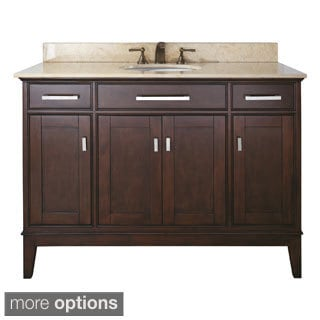 Avanity Madison 48-inch Single Vanity in Light Espresso Finish with Sink and Top