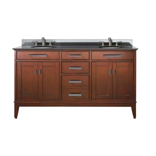 Avanity Madison 60-inch Double Vanity in Tobacco Finish with Dual Sinks and Top