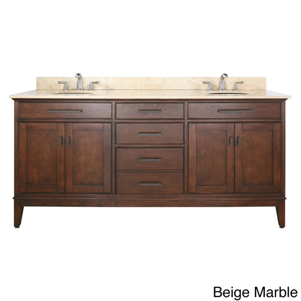 72 inch double sink bathroom vanities - Avanity Madison 72 Inch Double Vanity In Tobacco Finish