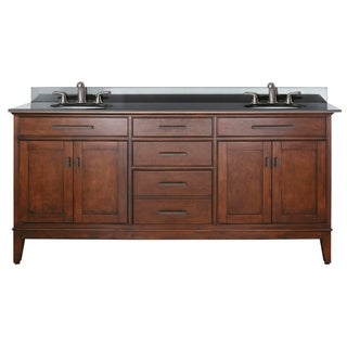 Link to Avanity Madison 72-inch Double Vanity in Tobacco Finish with Dual Sinks and Top Similar Items in Bathroom Vanities