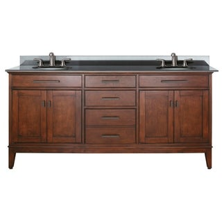 Avanity Madison 72-inch Double Vanity in Tobacco Finish with Dual Sinks and Top