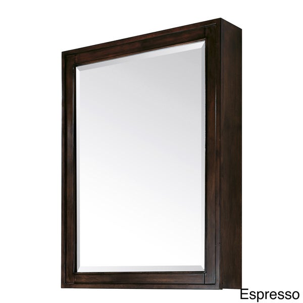 avanity madison 28 inch beveled mirror cabinet in light espresso