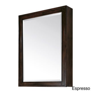 "Avanity Madison 28-inch Beveled Mirror Cabinet in Light Espresso Finish - 28""W x 36""H"