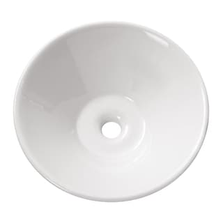 Avanity Round White Vitreous China Vessel Sink