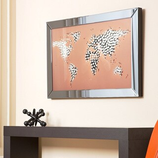Abbyson Living World Map Wall Mirror