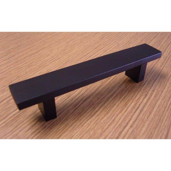 Contemporary 6-inch Rectangular Design Matte Black Finish Cabinet Bar Pull Handle (Case of 10)