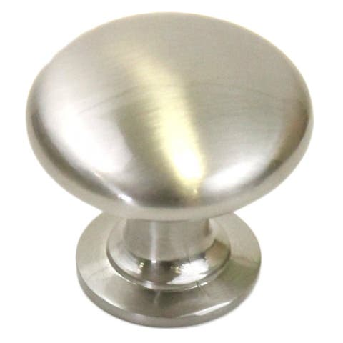1-1/4 inch Round Circular Design Stainless Steel Finish Cabinet and Drawer Knobs Handles (Case of 10)