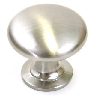Round Circular Stainless Steel Finish 1.25-inch Cabinet and Drawer Knobs Handles (Case of 25)