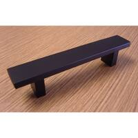 Contemporary 6-inch Rectangular Design Matte Black Finish Cabinet Bar Pull Handle (Case of 5)