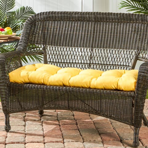 Driftwood Sunbrella 46-inch Outdoor Swing/Bench Cushion by Havenside Home