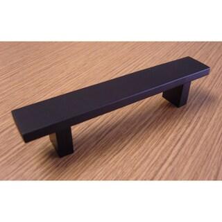 Contemporary 6-inch Rectangular Design Matte Black Finish Cabinet Bar Pull Handle (Case of 25)