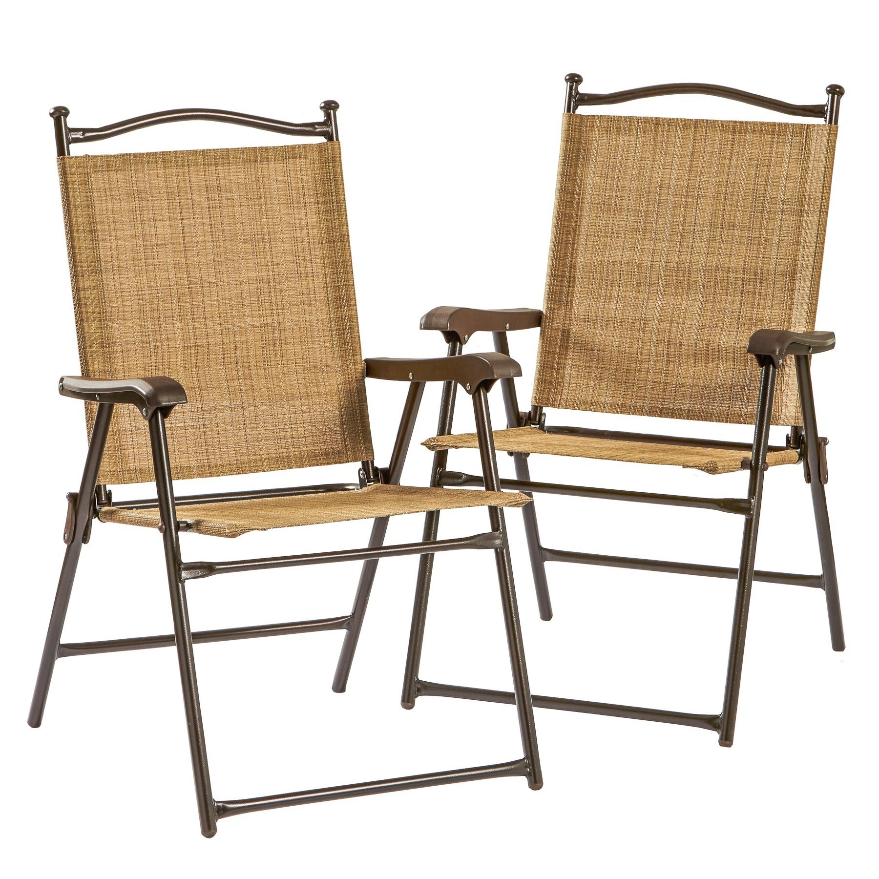 Folding Outdoor Chairs UV Resistant Garden Patio Furniture Set of