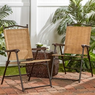Folding UV-resistant Outdoor Chairs (Set of 2)