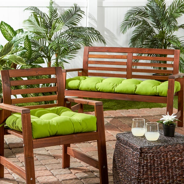 Sunbrella 20 Inch Tufted Outdoor Chair Cushion   Free Shipping On Orders  Over $45   Overstock.com   16145561