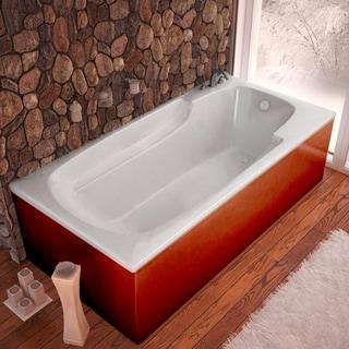 Atlantis Whirlpools Eros 36 x 60 Rectangular Soaking Bathtub in White