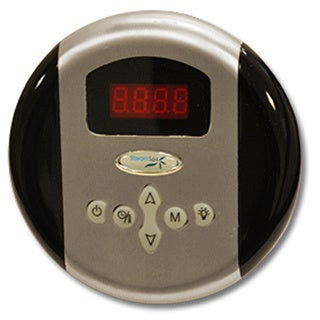 SteamSpa Control Panel with Time and Temperature Presentsin Brushed Nickel