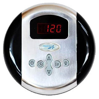 SteamSpa Control Panel with Time and Temperature Presentsin Chrome