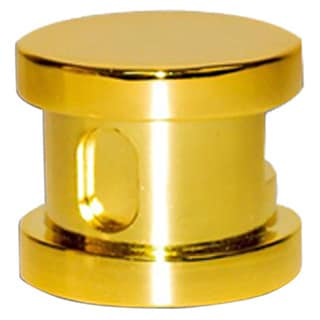 SteamSpa Steamhead with Aroma Therapy Reservoir in Polished Brass
