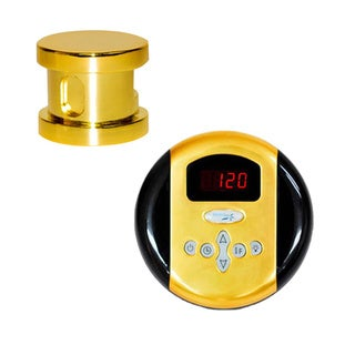 SteamSpa Oasis Control Kit in Polished Brass