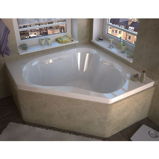 Atlantis Whirlpools Cascade 60 x 60 Corner Soaking Bathtub in White