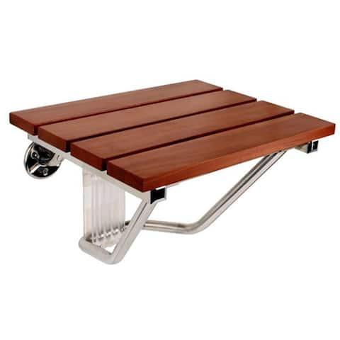 SteamSpa Teak Wood Wall Mounted Shower Seat
