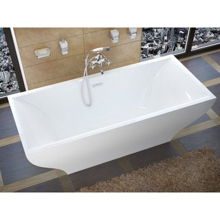 Atlantis Whirlpools Gulf 32 x 71 Freestanding One Piece Soaker in White - 32 x 71