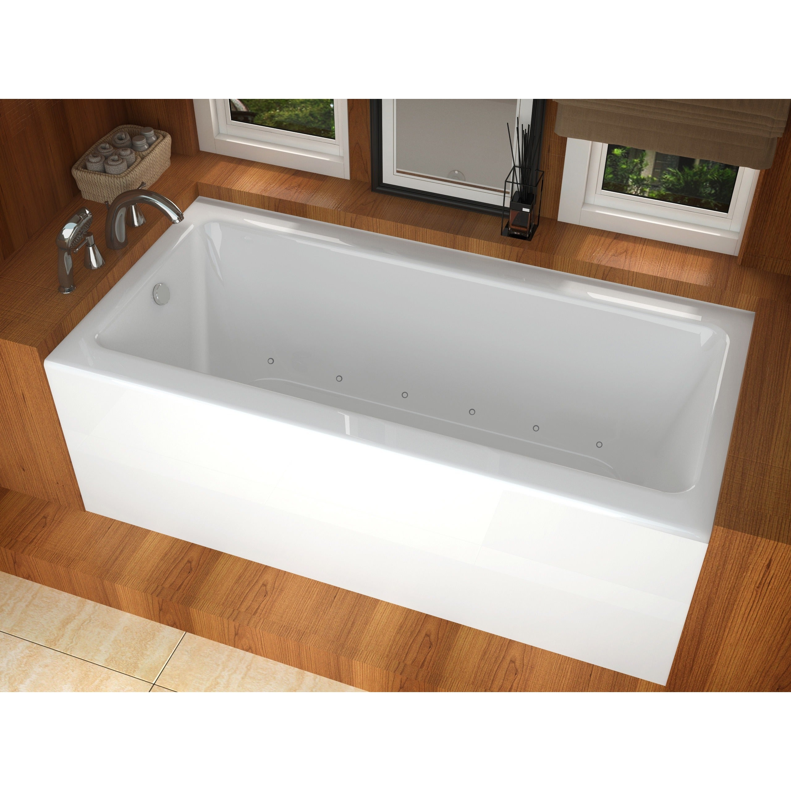 Atlantis Whirlpools Soho 30 x 60 Front Skirted Air Massage Tub with ...