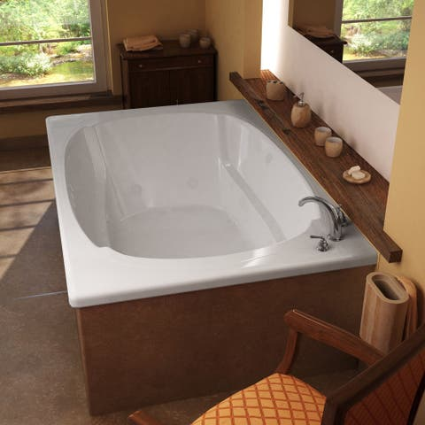 Atlantis Whirlpools Charleston 48 x 72 Rectangular Whirlpool Jetted Bathtub in White