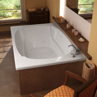 Atlantis Whirlpools Charleston 48 x 72 Rectangular Whirlpool Jetted Bathtub in White