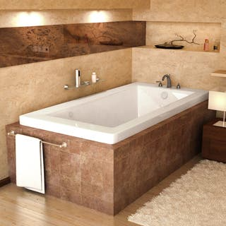 Atlantis Whirlpools Venetian 32 x 66 Rectangular Air Jetted Bathtub in White. Jetted Tubs For Less   Overstock com