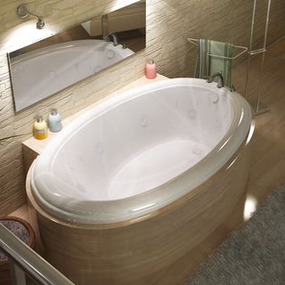 Atlantis Whirlpools Petite 36 x 60 Oval Whirlpool Jetted Bathtub in White