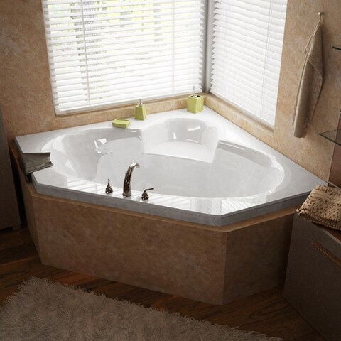 Atlantis Whirlpools Sublime 60 x 60 Corner Air Jetted Bathtub in White