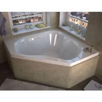 Atlantis Whirlpools Cascade 60 x 60 Corner Whirlpool Jetted Bathtub in White