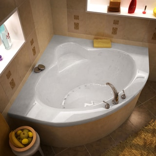 Atlantis Whirlpools Alexandria 60 x 60 Corner Air Jetted Bathtub in White