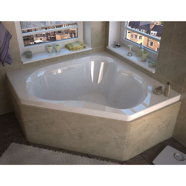 Atlantis Whirlpools Cascade 60 x 60 Corner Air Jetted Bat...