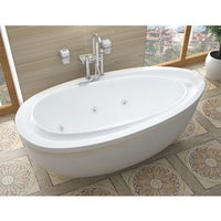 stand alone whirlpool tub. Atlantis Whirlpools Breeze 38 X 71 Oval Freestanding Whirlpool Jetted  Bathtub In White Air