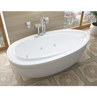 freestanding tub with jets. Atlantis Whirlpools Breeze 38 x 71 Oval Freestanding Whirlpool Jetted  Bathtub in White Tubs For Less Overstock com