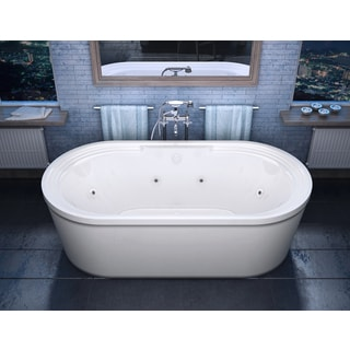 atlantis whirlpools royale x oval whirlpool jetted bathtub in white