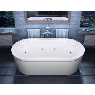 free standing garden tub. Atlantis Whirlpools Royale 34 X 67 Oval Freestanding Whirlpool Jetted  Bathtub In White Tubs Air Overstock