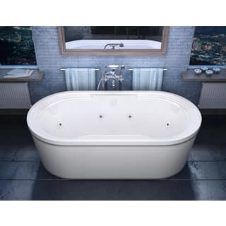 4 ft freestanding tub. Atlantis Whirlpools Royale 34 x 67 Oval Freestanding Whirlpool Jetted  Bathtub in White Tubs For Less Overstock com