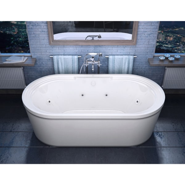 Merveilleux Atlantis Whirlpools Royale 34 X 67 Oval Freestanding Whirlpool Jetted  Bathtub In White