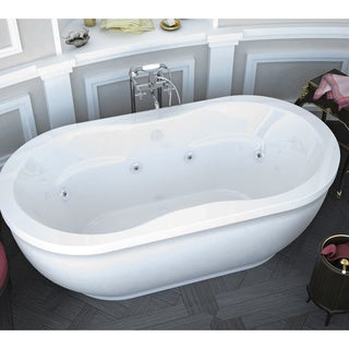 Atlantis Whirlpools Embrace 34 X 71 Oval Freestanding Whirlpool Jetted  Bathtub In White