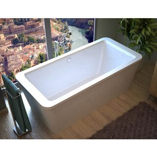 Atlantis Whirlpools Aquarius 34 x 67 Rectangular Freestanding Air Jetted Bathtub in White